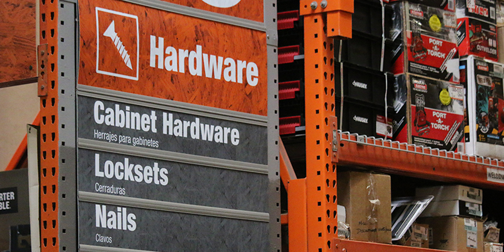 Lock-Section-Of-Home-Depot