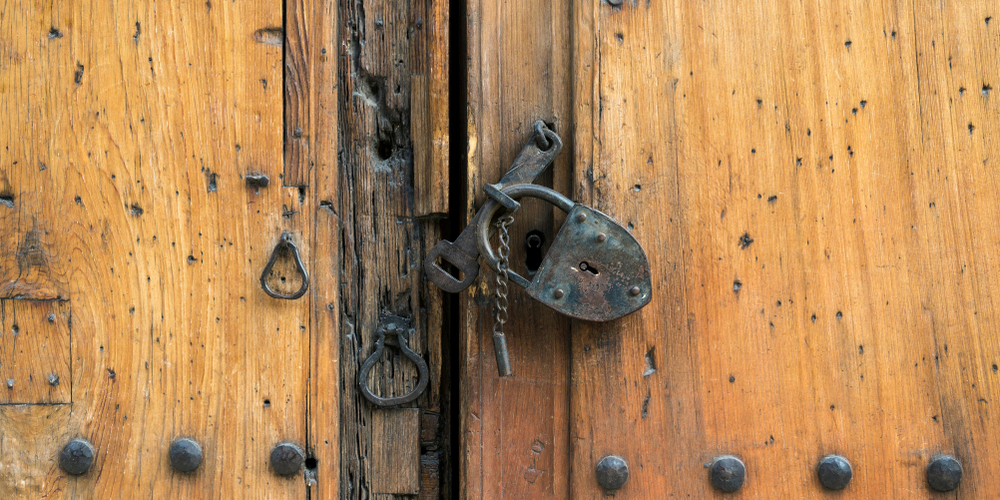 Broken Antique Padlock Hasp