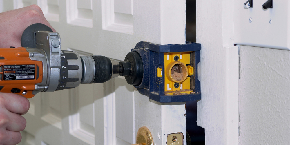 Drilling Lock Mounting Holes In Door