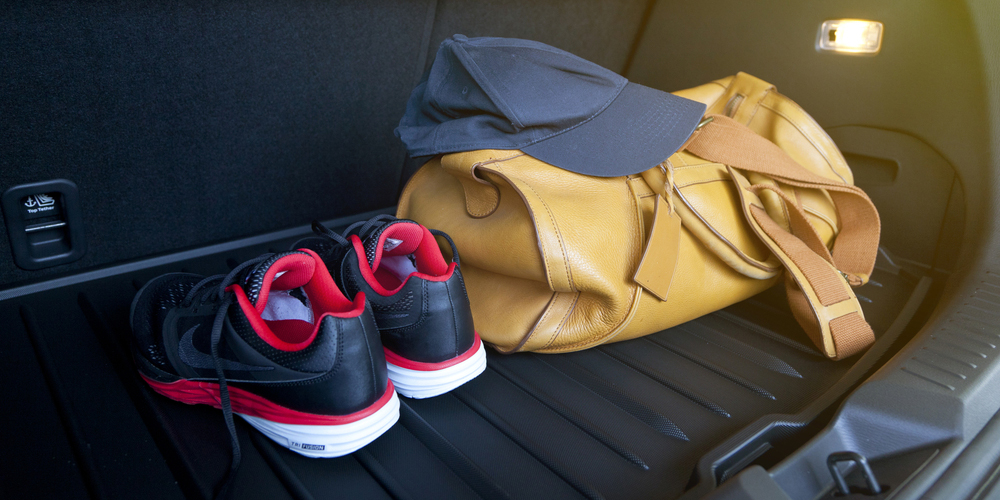 Gym Shoes In Car Trunk