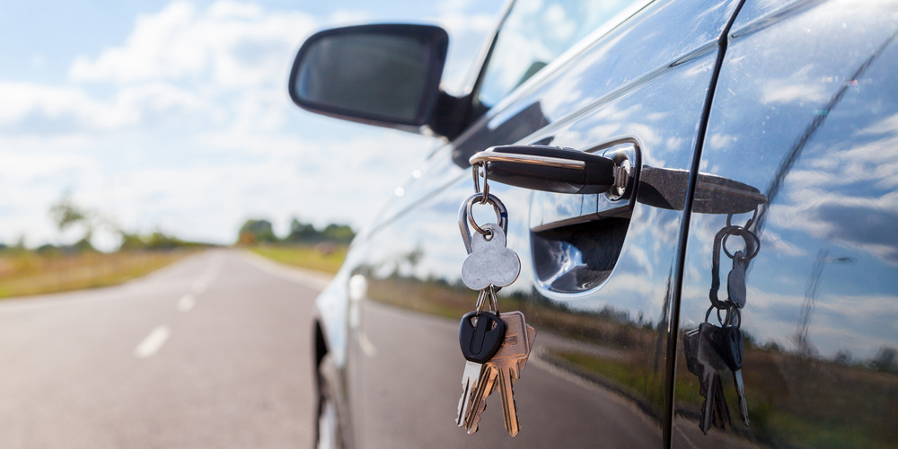 Key Turned In Car Lock