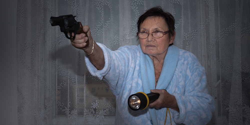 Senior With Gun