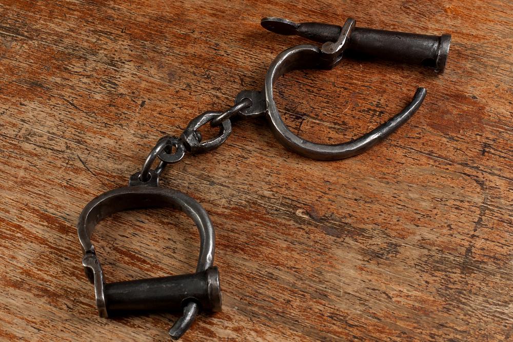 Vintage Metal Handcuffs